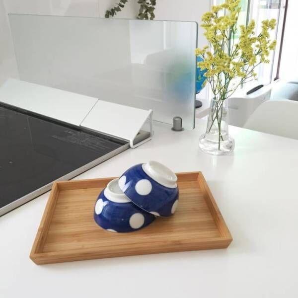 ドット柄茶碗