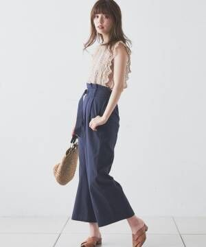 [natural couture] 裏シフォンレースブラウス