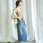 夏に着るとかわいいデニムスカート♡大人な着こなしまとめ15選