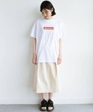 [haco!] 【Dickies】TC天竺プリントルーズフィットTシャツ