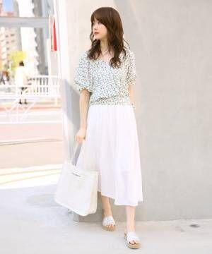[Heather] シフォンプリーツロングスカート831956