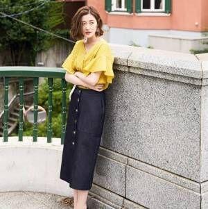 夏にかわいい♡「デニムスカート」の大人な着こなしまとめ