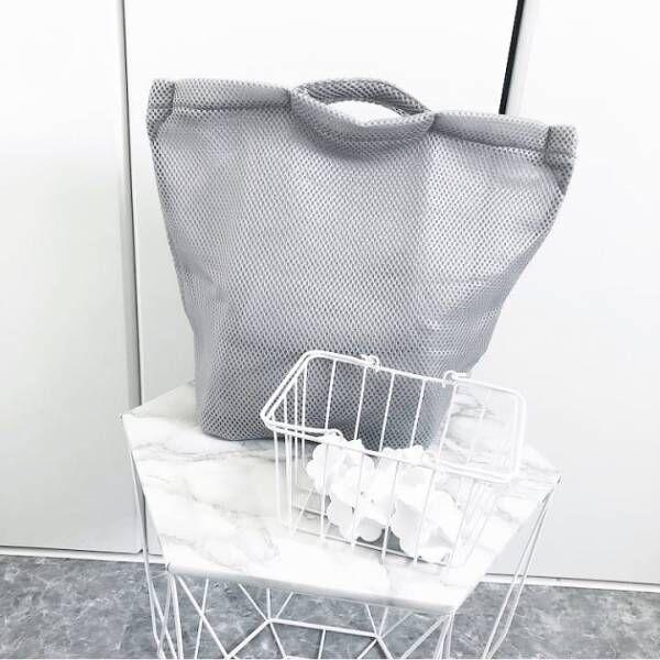 そのまま洗えるランドリーバッグ【キャンドゥ】