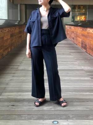 出典:zozo.jp [UNITED TOKYO] リネンライク開襟シャツ