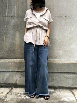 [HER CLOSET] 【&g'aime】サファリチュニックシャツ