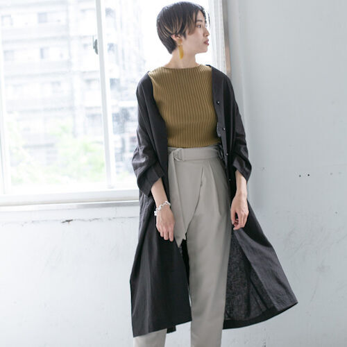 暑さが残る9月まで着たいリネンの服♡ダークカラーで初秋の着こなし