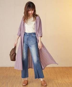 [natural couture] 長さ変えられるフレアデニム2