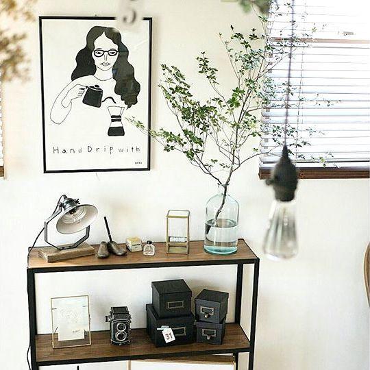 スタイリッシュな部屋作りには枝もの植物が欠かせない!枝もの植物のある空間