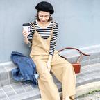 楽して可愛いコーデ♡この夏は「サロペ・オールインワン」を着こなそう!