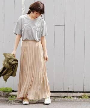 [Doula Doula] ジョーゼットロングプリーツスカート