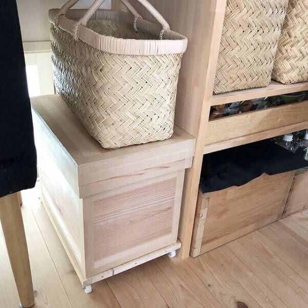 木製米びつでナチュラルな空間