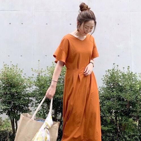 【GU】のスカート・ワンピースコーデをチェック!夏はさらっと涼しげに着こなして♪