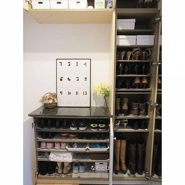 使う頻度で靴を収納する