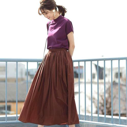 秋のおしゃれを意識して♪《ブラウンスカート》コーディネート例15選