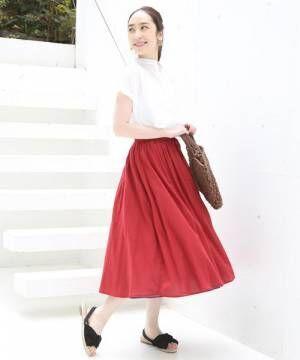 [coen] 【『リンネル』6月号掲載・2WAY】インディアンコットンリバーシブルスカート ( フレアスカート ティアードスカート )
