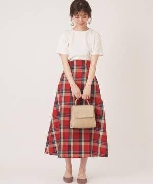 [natural couture] カラータータンAラインスカート