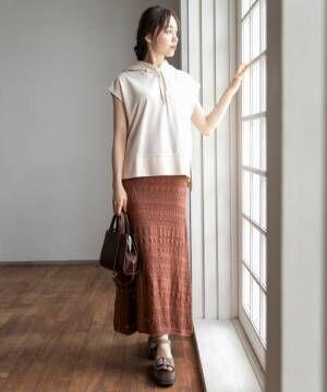 [Heather] カギバリニットスカート847361