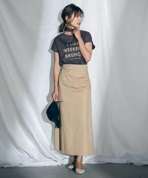 [MAYSON GREY] 【socolla】バックレースアップフレアスカート