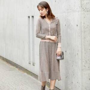 季節感も女っぽさも◎大人女性が着こなす「秋のスカートコーデ」15選♡