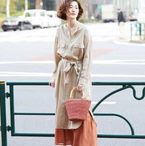 ワンピースはレイヤードで印象チェンジ!パンツやスカートとの重ね着がかわいい♡