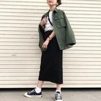 【UNIQLO】リブタイトロングスカート♡大人女子の秋コーデにぴったり!