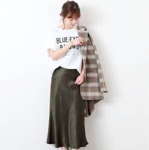 この秋気になる『サテン』の服☆光沢を活かした旬な着こなし15選