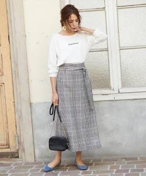 [titivate] フェイクラップAラインスカート