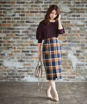 [12Twelve Agenda] Bigチェックナロースカート