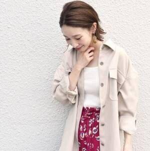 秋の軽い羽織りをピックアップ♡ちょっと涼しい日の着こなし15選
