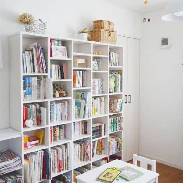 壁面収納を本棚にする