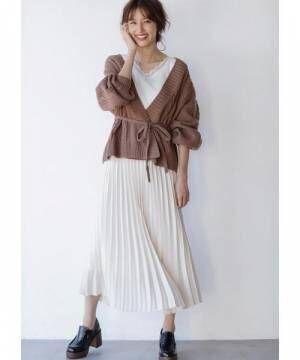 [INGNI] サテンプリーツ/スカート