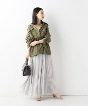 [IENA] 【CLANE/クラネ】 CROWD フラワーロングスカート