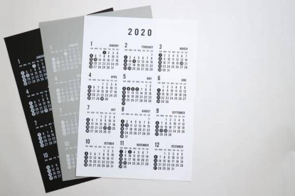 セリア モノトーン カレンダー 2020 2