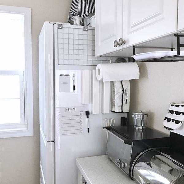 冷蔵庫横にメモをセットする