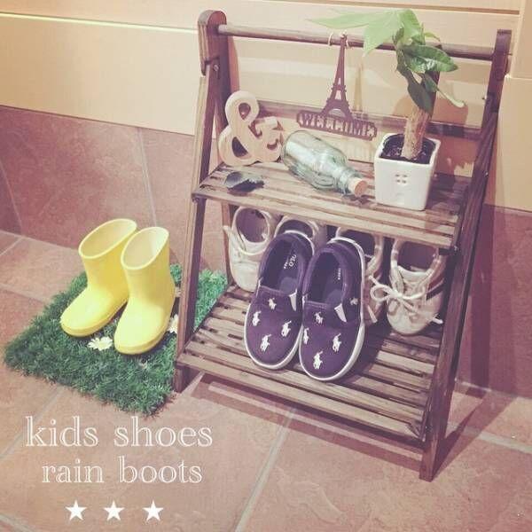 子供の靴はラックに出して収納