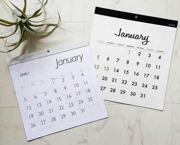 【ダイソーetc.】で早めにチェック♪2020年のカレンダー狙い目はこれ!