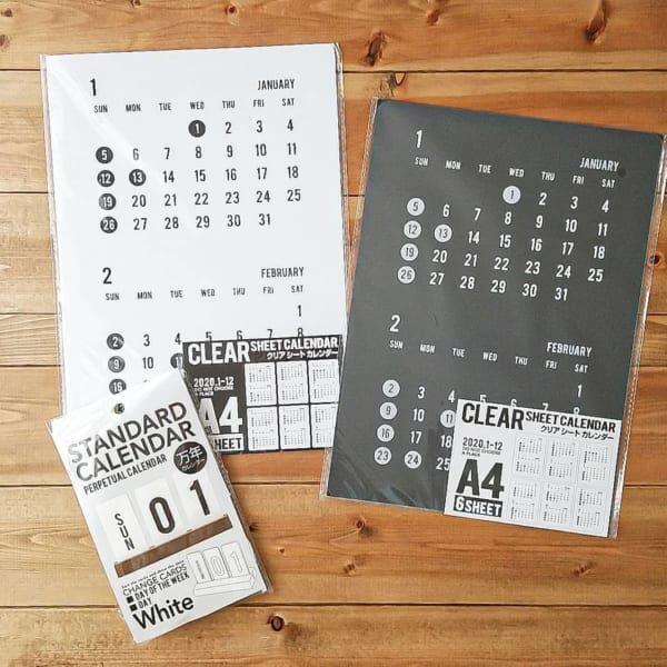 クリアシートカレンダー&万年カレンダー