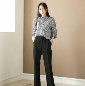 月~金曜日、毎日着回しOK♡やっぱり頼れる黒パンツの1Weekコーデ♪