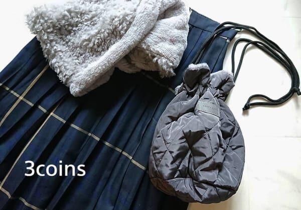 【3COINS】リバーシブル巾着