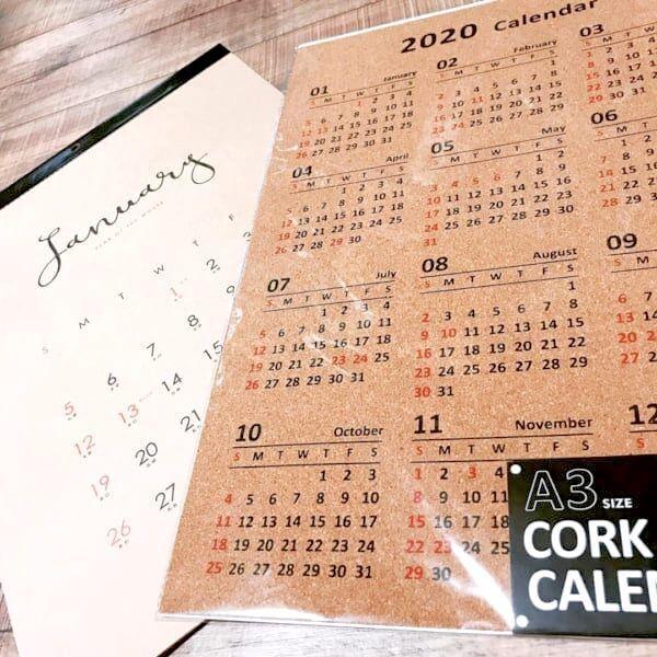 【セリア】の2020年カレンダーリサーチ♪壁掛けから卓上カレンダーまで