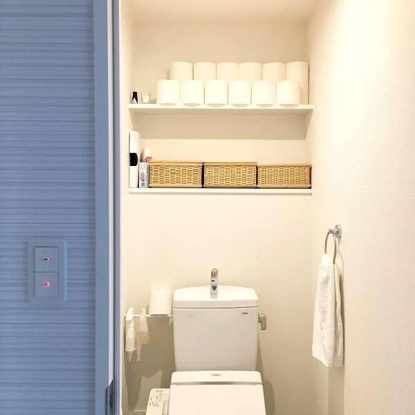 【無印・ニトリ・ダイソーetc.】で作る!トイレをすっきりと見せる収納術