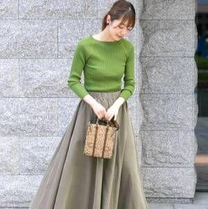 大人可愛い秋冬スタイル♡カジュアルもキレイめも《スカート》でレディライクに!