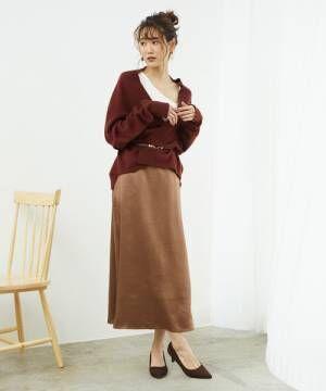 [ROPE' PICNIC] サテンフレアスカート