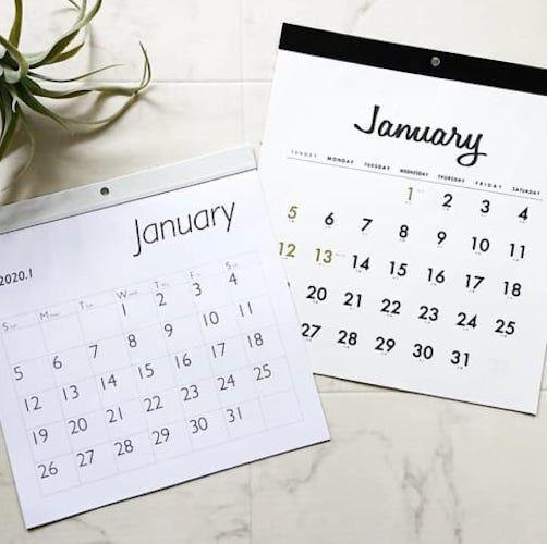 【セリアetc.】今年のうちにゲットしよう!100均で見つけたおしゃれカレンダー