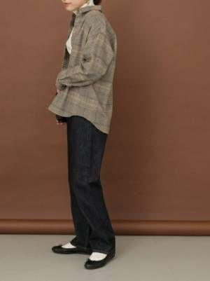 1[URBAN RESEARCH DOORS] FORK&SPOONハイウエストストレートジーンズ
