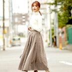 寒くなってもたくさん着たい♪「フレアスカート」の秋冬コーデをチェック