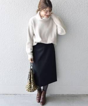 [SHIPS for women] ウールセミタイトスカート◆