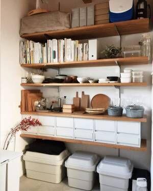 おしゃれな本棚アイディア《キッチン》3