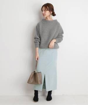 [IENA] スエードライクタイトスカート◆