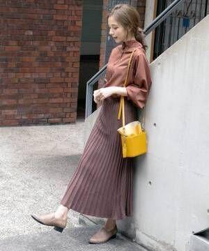 [kobelettuce] マキシ丈ニットプリーツスカート